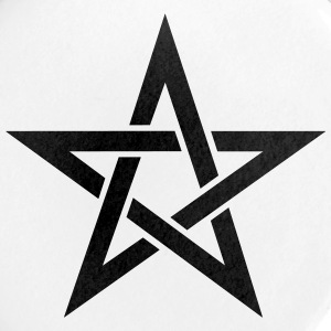 Pentagramme, pentacle, magie, symbole, sorcellerie, - Badge grand 56 mm