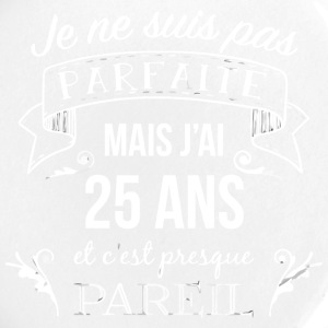 anniversaire t shirt 25 ANS âge 25 ANS - Badge grand 56 mm
