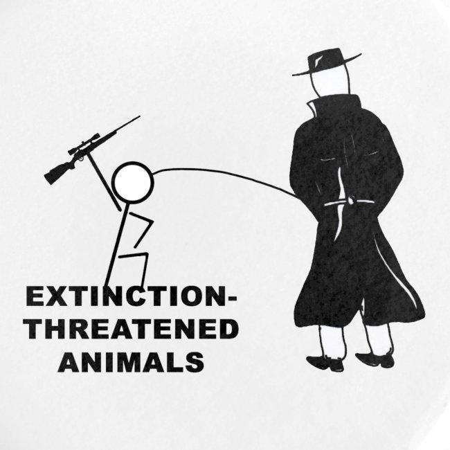 Pissing Man against hunting for endangered animals
