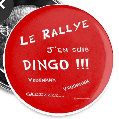 badge rallye dingo rouge - Lot de 5 grands badges (56 mm)