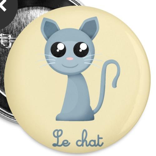 Le chat - Lot de 5 grands badges (56 mm)