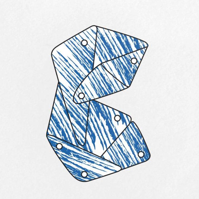 Lettera B blu