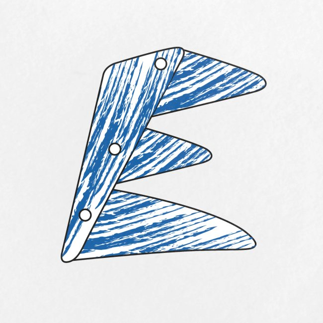 lettera blu E