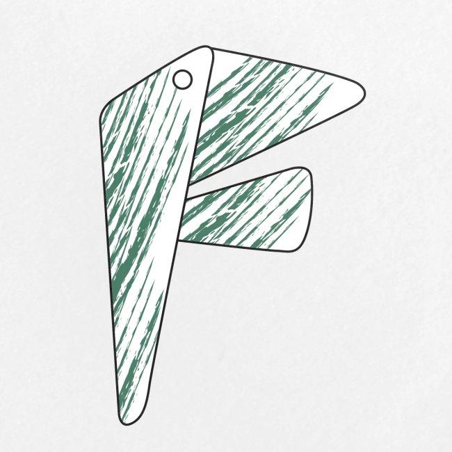 lettera F verde