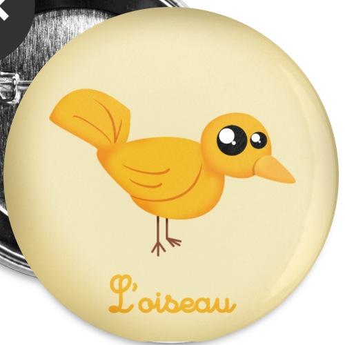 L'oiseau - Lot de 5 grands badges (56 mm)