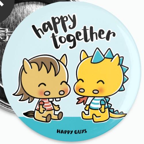 Happy Together - Buttons groß 56 mm (5er Pack)