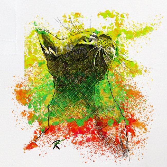 Gatto color sketch