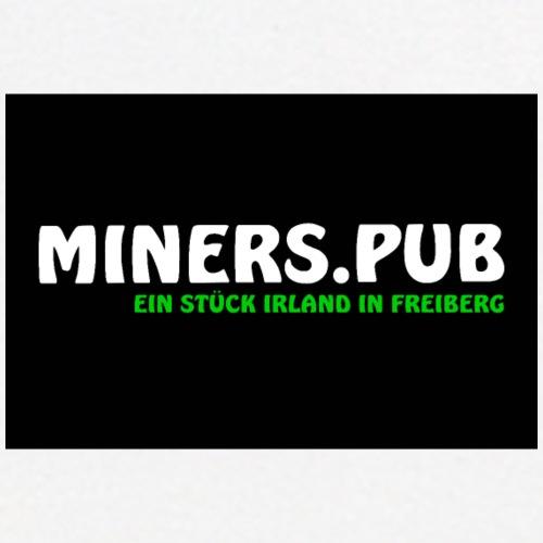 Poster Miners Schriftzug - Männer Poloshirt