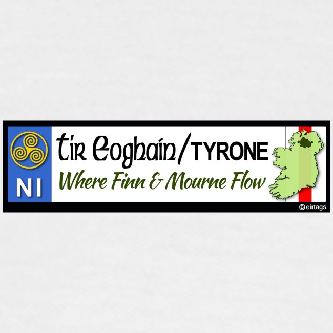 TYRONE, NORTHERN IRELAND licence plate tags decal