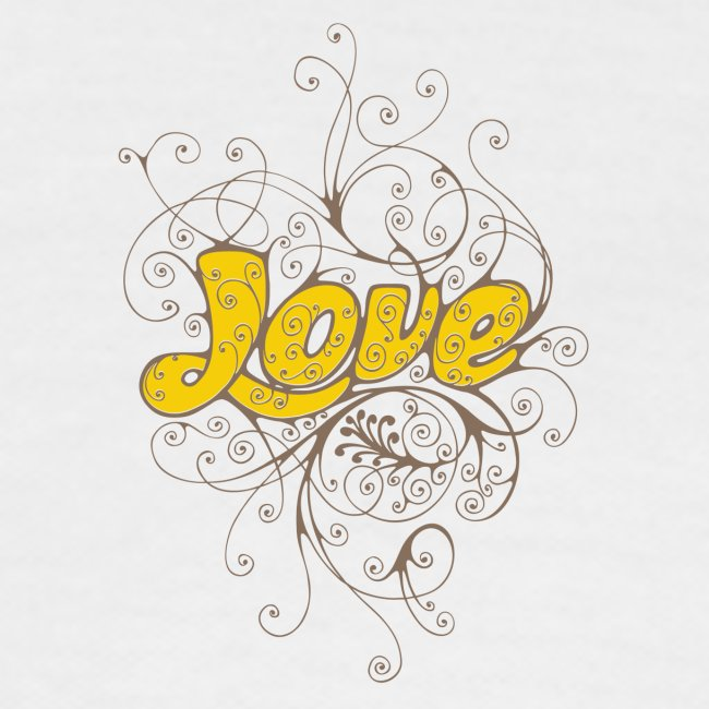 Scritta Love con decorazione