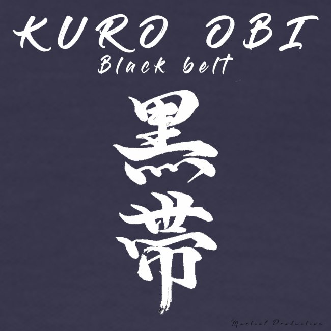 Kuro obi / black belt version blanc