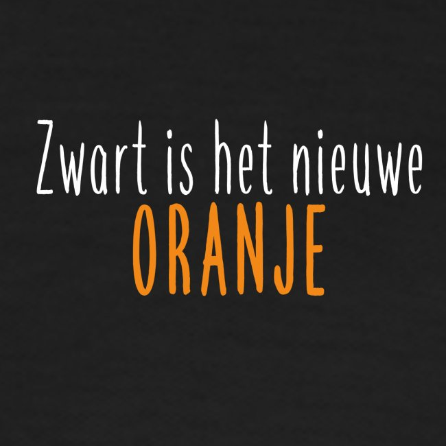 Zwart is het nieuwe oranje
