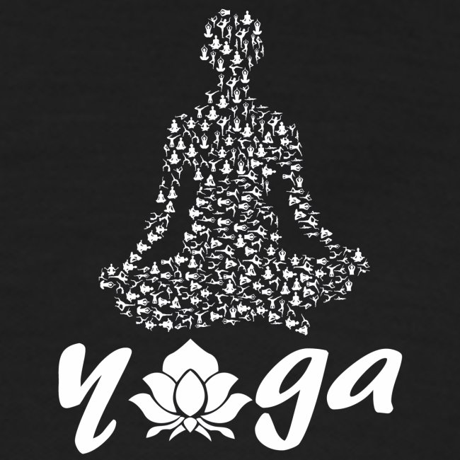 yoga fiore bianco namaste pace amore hippie fitness