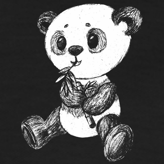 Panda bjørn hvid scribblesirii