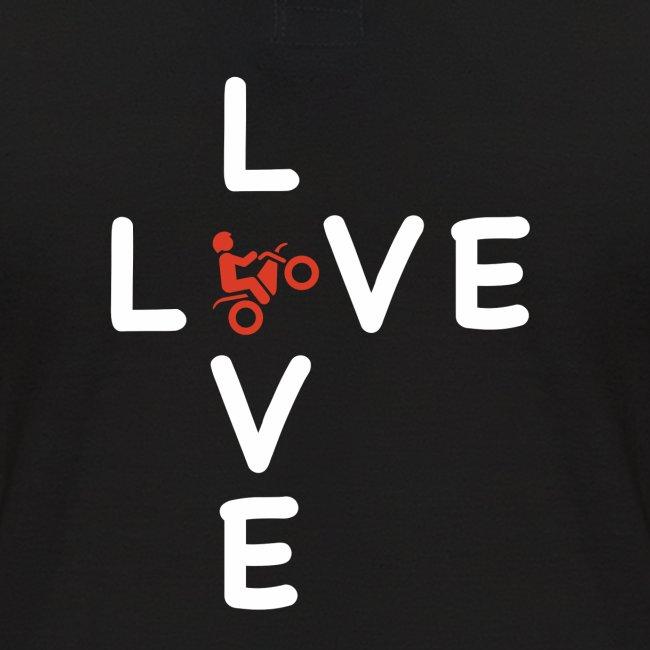 LOVE Cross white wheely red 001