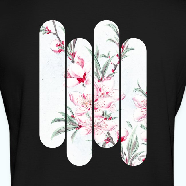 Vintage Japan watercolor flowers