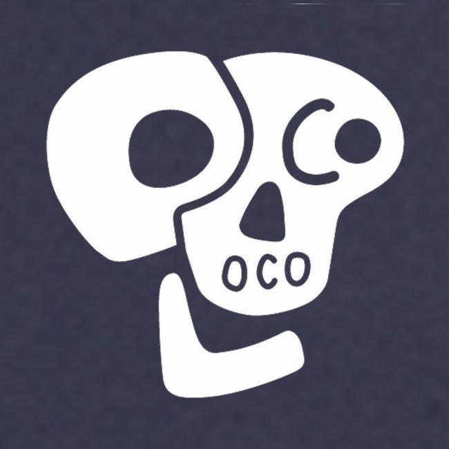 Poco Loco skull logo white