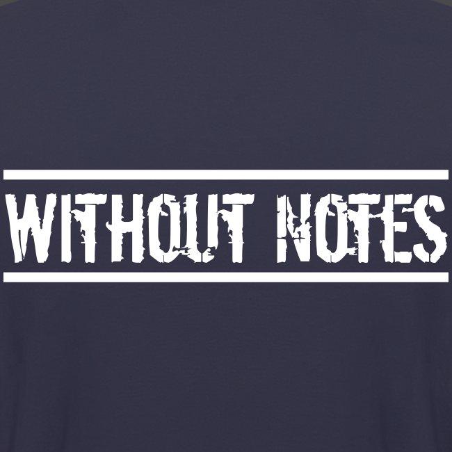Without Notes Schriftzug