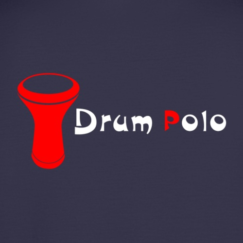 Drum Polo White/Red Back