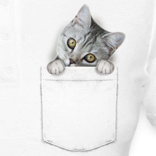 Vorschau: cat pocket - Frauen Polo Shirt