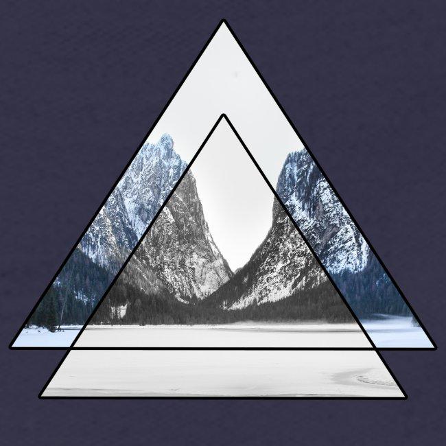 mountains geometric triangular landscape