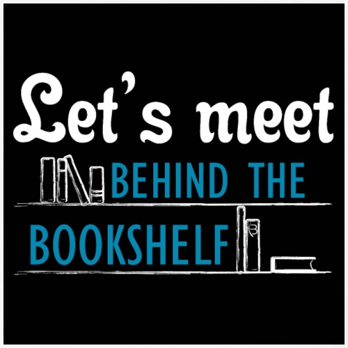 Let's meet the bookshelf - Poster - black - Women's Polo Shirt