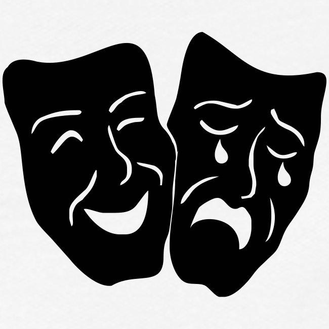 Theatermasken Lachen Weinen