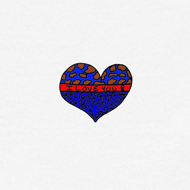 Herz Leben Welt Love you Blau