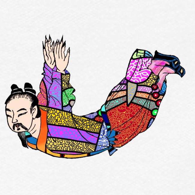 Chinese woodcut Qigong exercise
