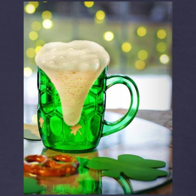 st patricks day green pint crop