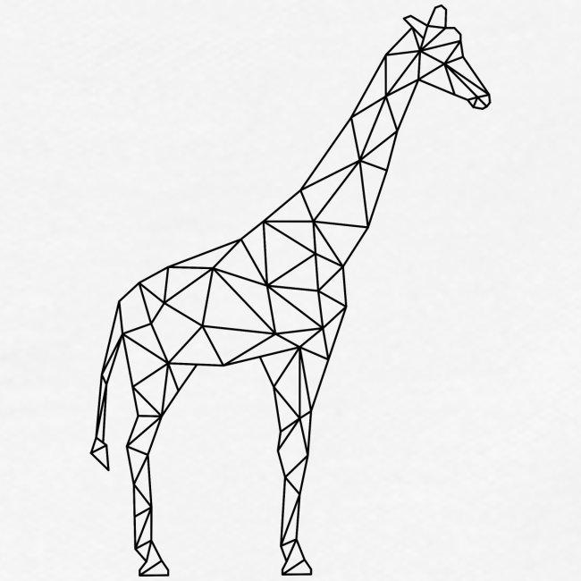 Giraffe Geometrisch schwarz