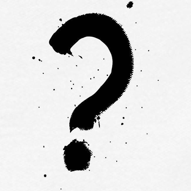 Kysymysmerkki musta