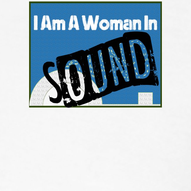 woman in sound - blue