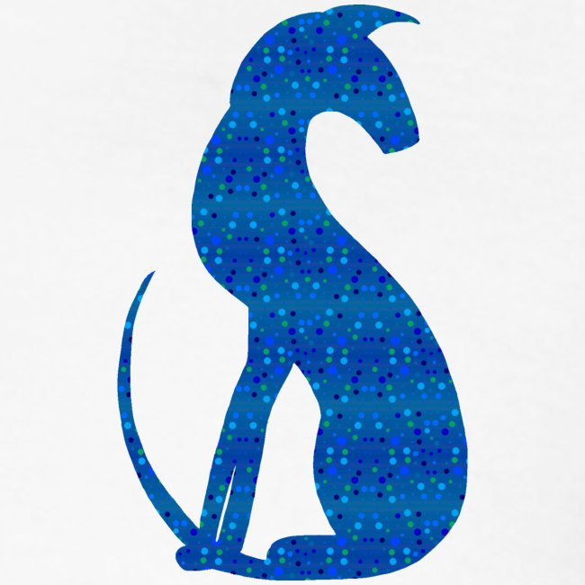 Siluett blå