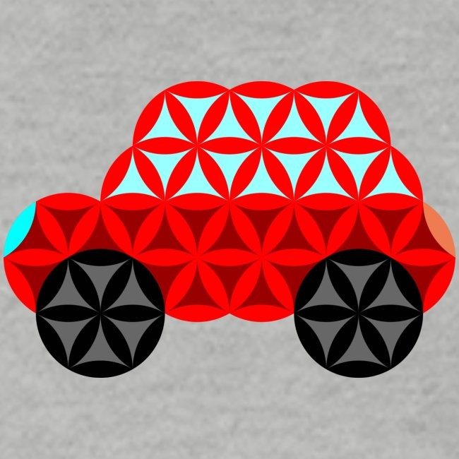 The Car Of Life - 01, Sacred Shapes, Red.