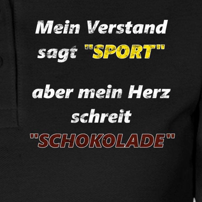 Sport Vs Schokolade Spruch Geschenkidee Frauen Polo Shirt
