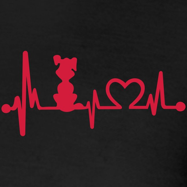 Vorschau: dog heart beat - Frauen Polo Shirt
