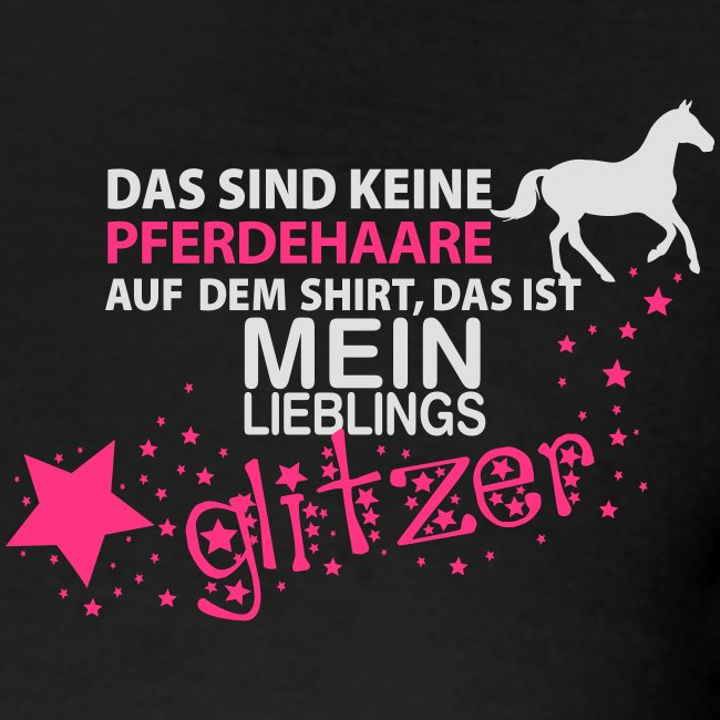 Vorschau: Glitzer Pferd - Frauen Polo Shirt