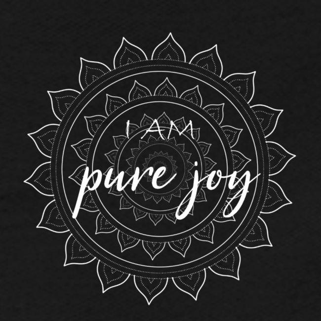 I am pure joy white mandala