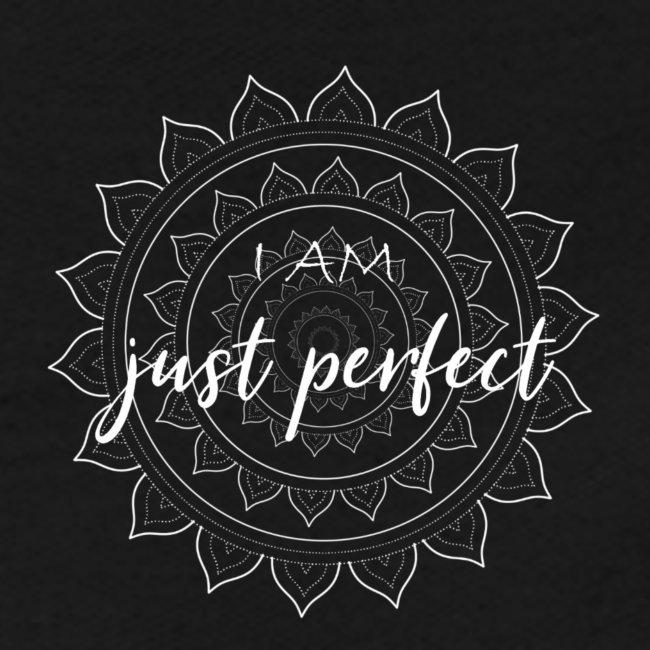I am just perfect white mandala