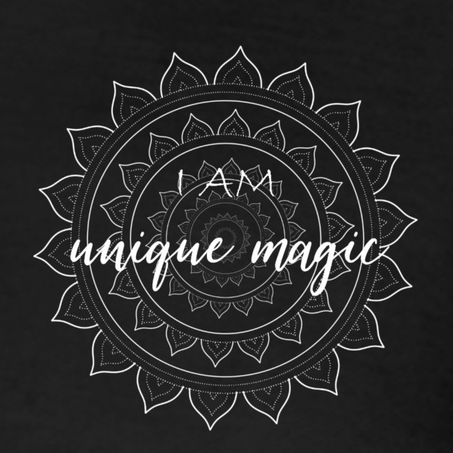 I am unique magic white mandala