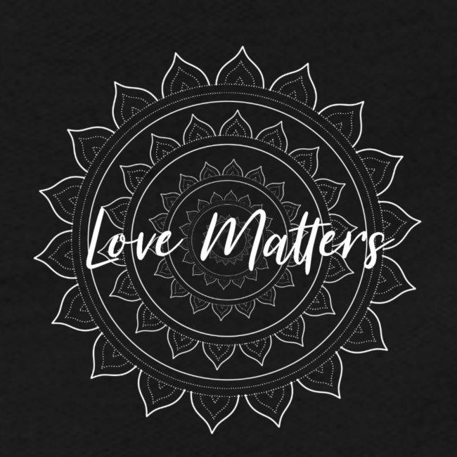 Love Matters white Mandala