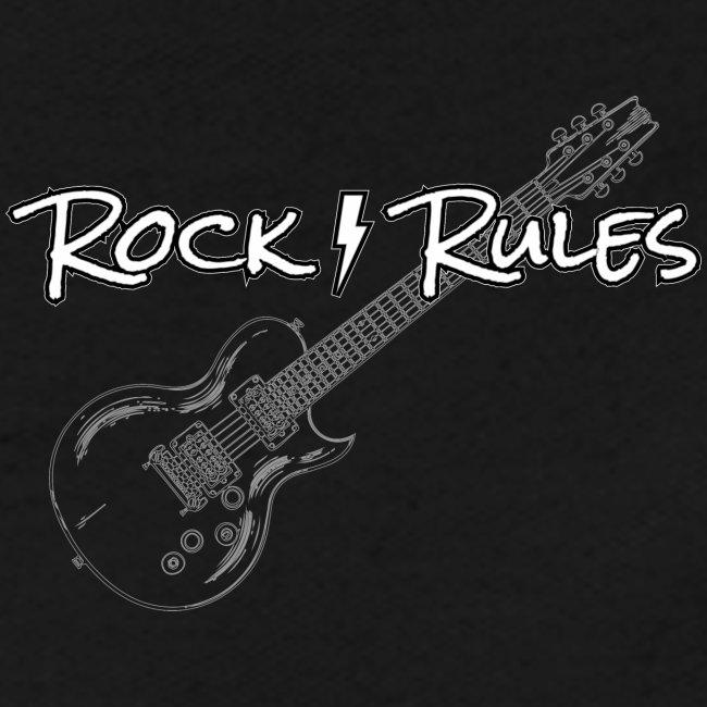 Rock Rules Shirt Gitarre Geschenk