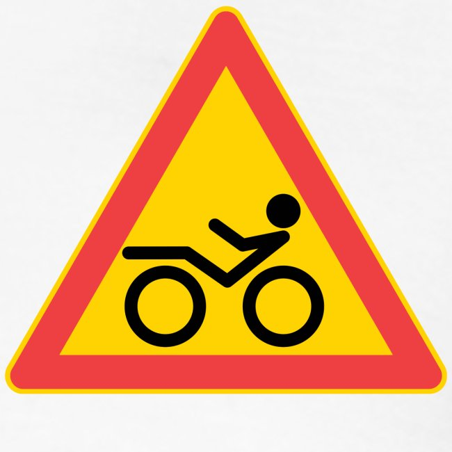 Traffic sign Recumbent