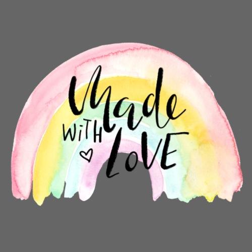 Made with Love Rainbow Baby - Baby Bio-Kurzarm-Kontrastbody