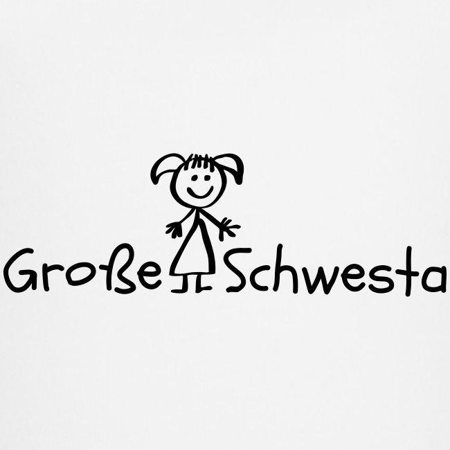 Vorschau: Grosse Schwesta - Baby Bio-Kurzarm-Kontrastbody