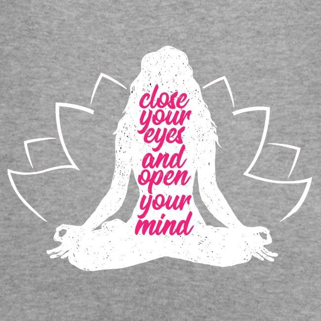 CLOSE YOUR EYES rosa YOGA PEACE LOVE SPORT ART