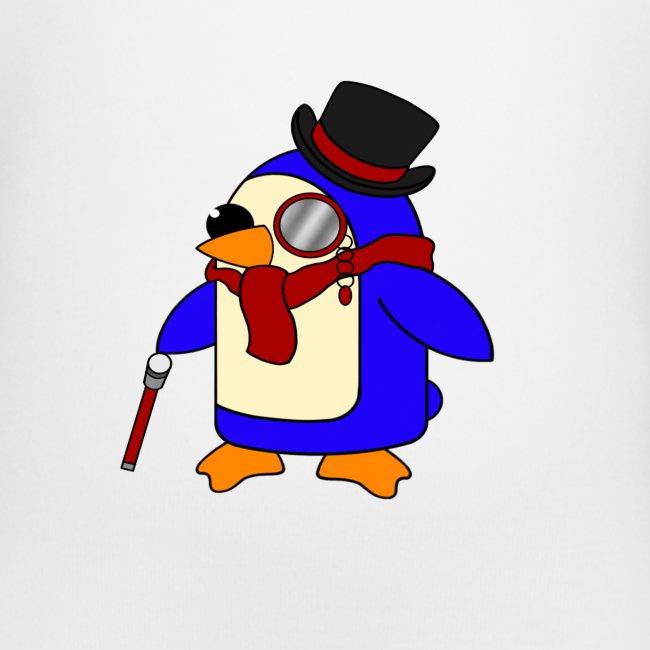 Cute Posh Crimson Red Penguin