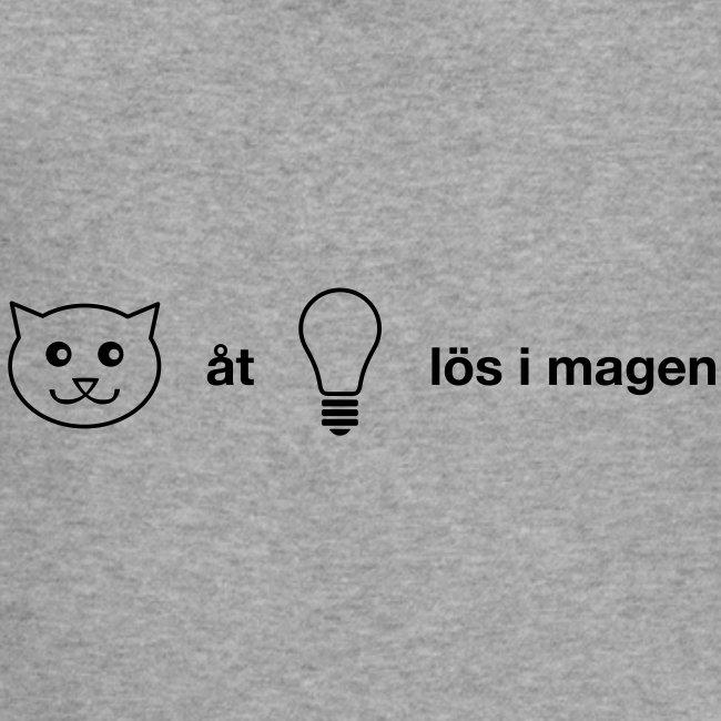 Katt åt lampa