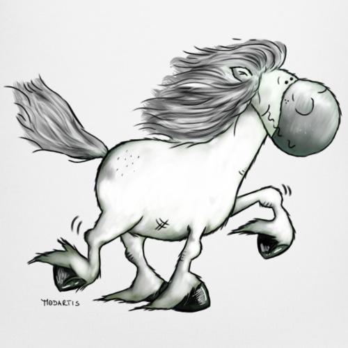 white horse - Baby Bio-Kurzarm-Kontrastbody